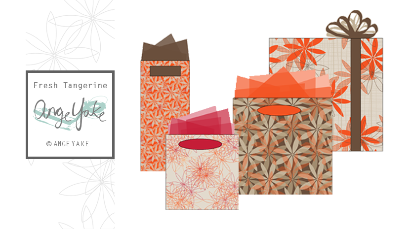 Ange Yake - Custom Surface Design - Giftwrap -  Fresh Tangerine.png