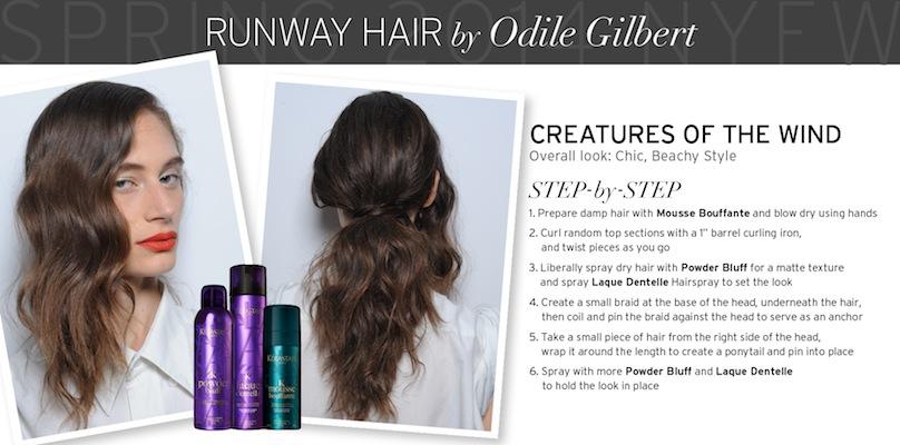 Runway Hair by Odile Gilbert