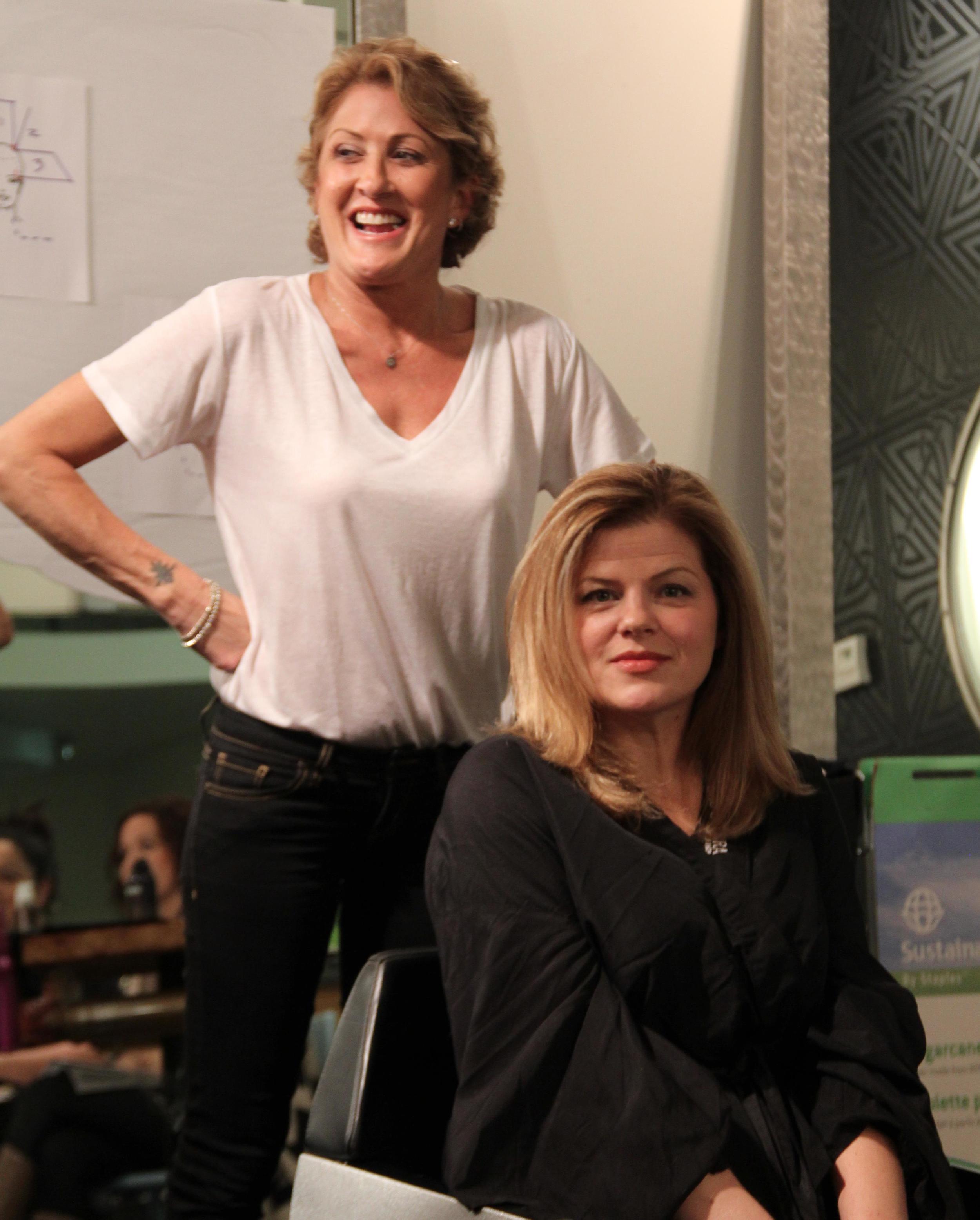 Linda Francipane of NYC teaches class for Umbrella Salon, San Jose, CA and Buzz Salon, Iowa City, IA. Model, Erin Connolly
