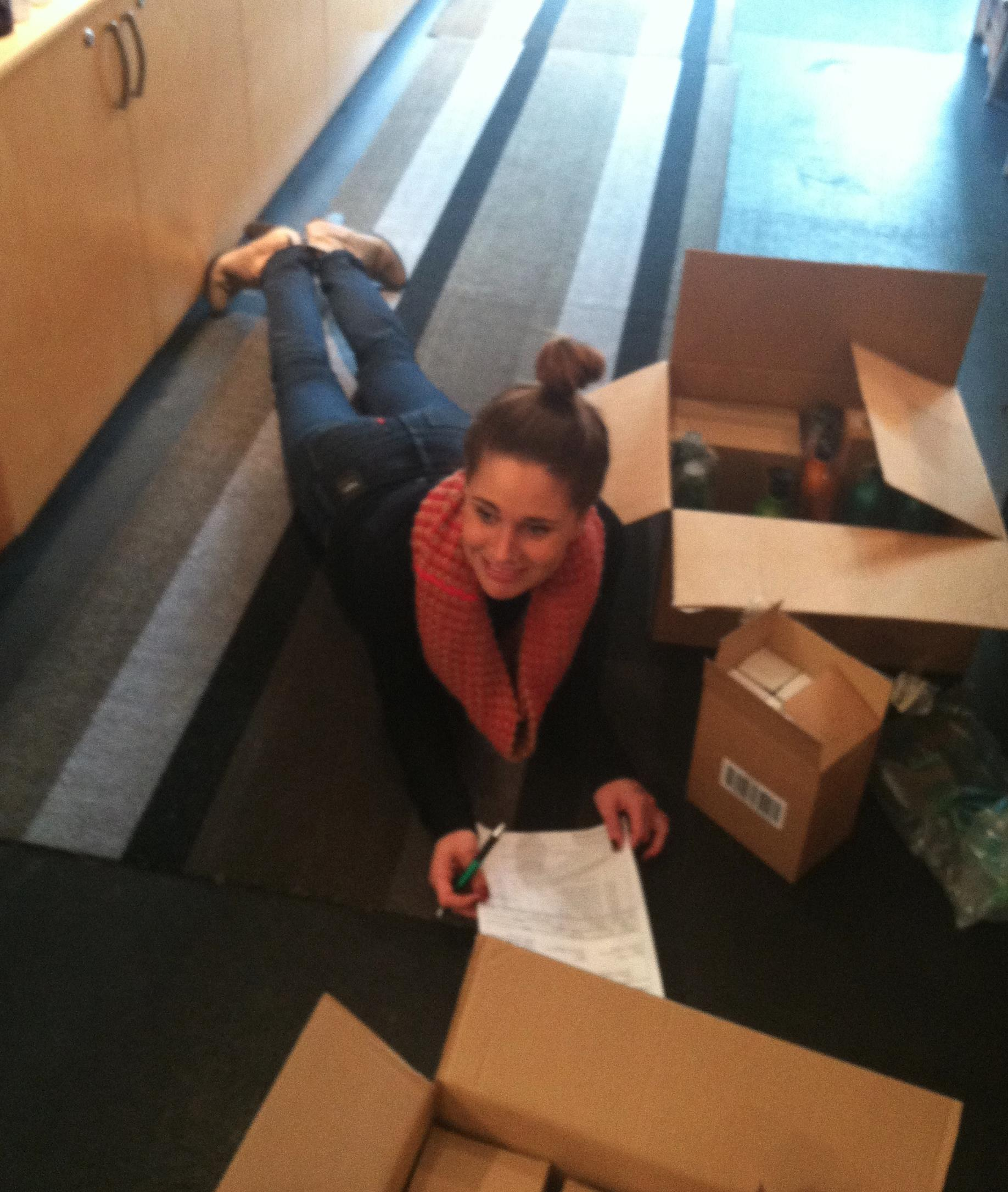 Allie Meyer from Buzz Salon in Iowa City Iowa unpacks a coveted new shipment of Shu Uemura.