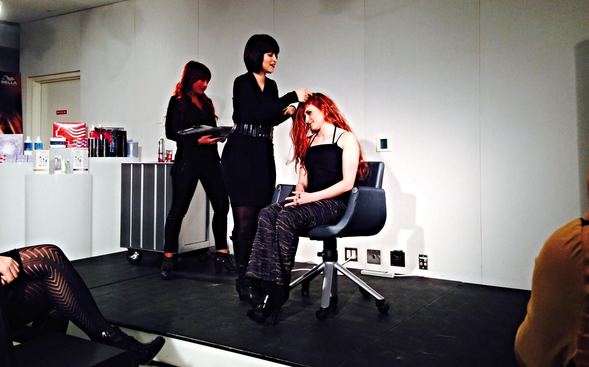 Buzz Salon, Jodi Connolly and Breanna Zink, attend Wella hair class in New York.