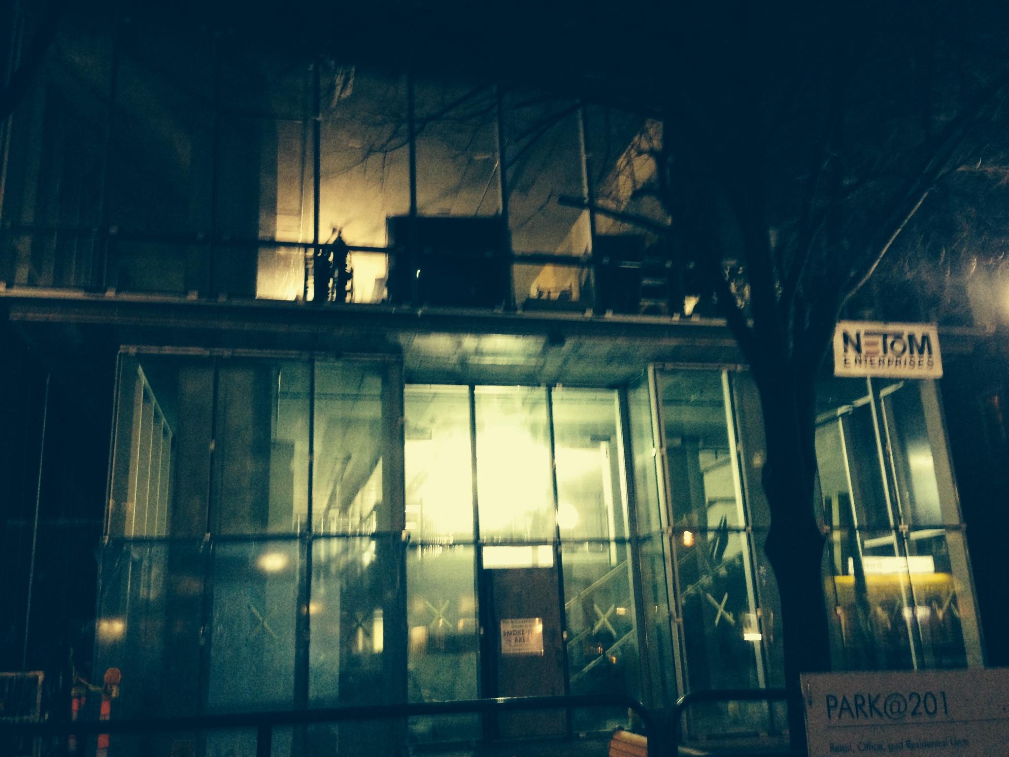 New Buzz Salon exterior downton Iowa CIty.
