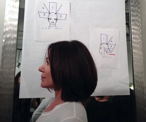 Linda Francipane cuts Jodi Connolly's hair, Buzz Salon, Iowa City, IA.