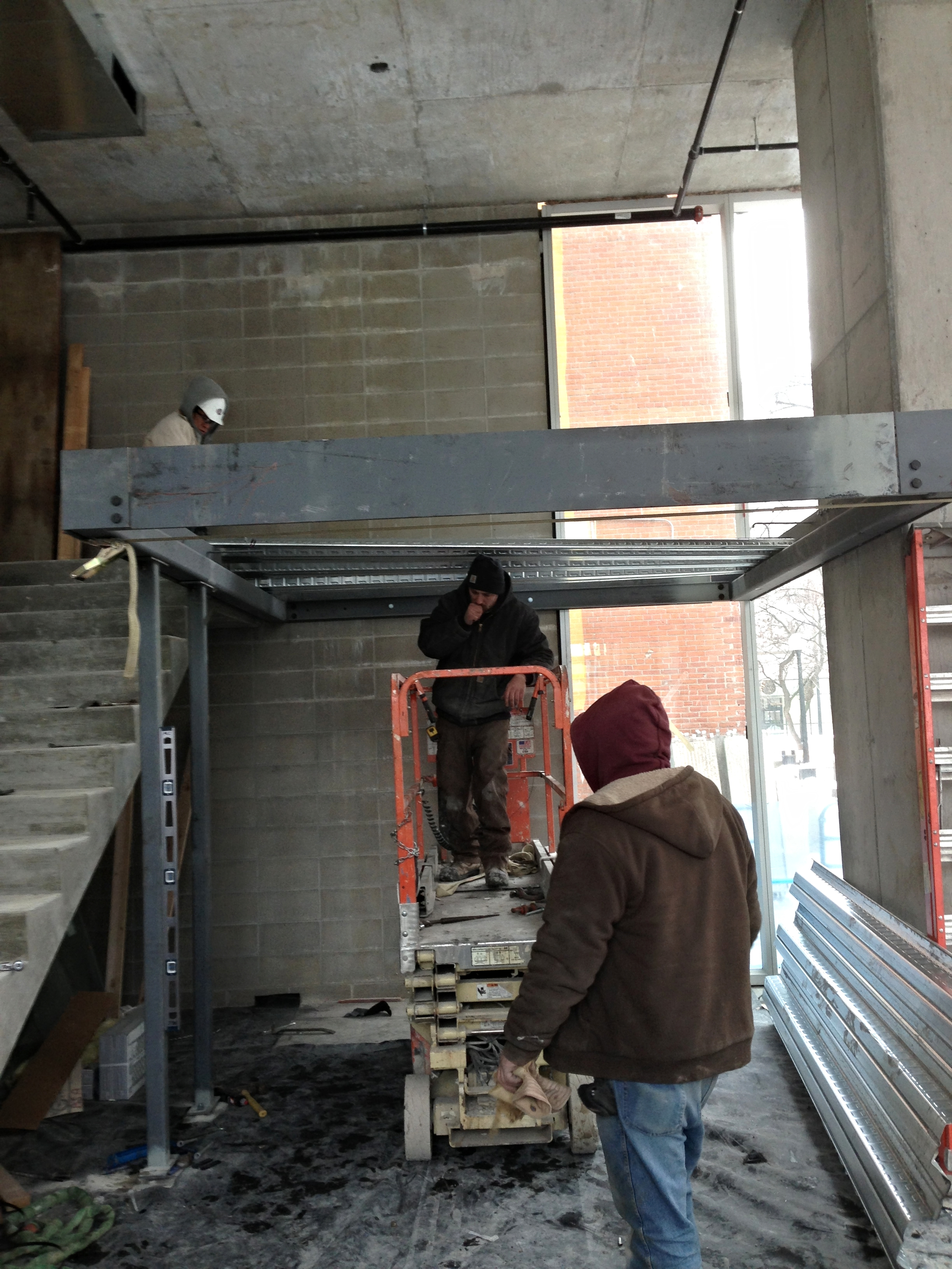 New Buzz Salon Iowa City Iowa under construction... owner Jodi Connolly
