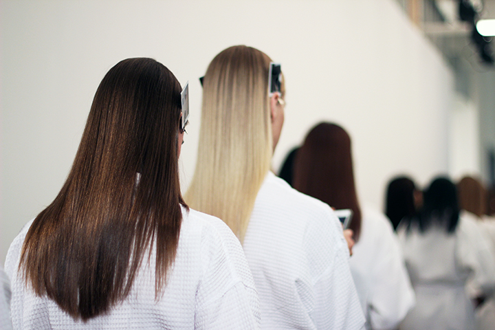 Houghton | New York Fashion Week | Spring/Summer 2015  Key Hair by: Adam Markarian  Photo courtesy of Oribe Hair Care.
