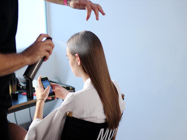 Houghton | New York Fashion Week | Spring/Summer 2015  Key Hair by: Adam Markarian  Photo courtesy of Oribe Hair Care.