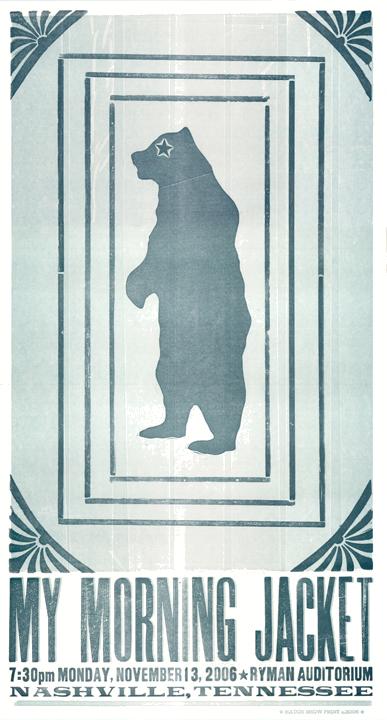 My Morning Jacket, 2-color letterpress show poster, 2006