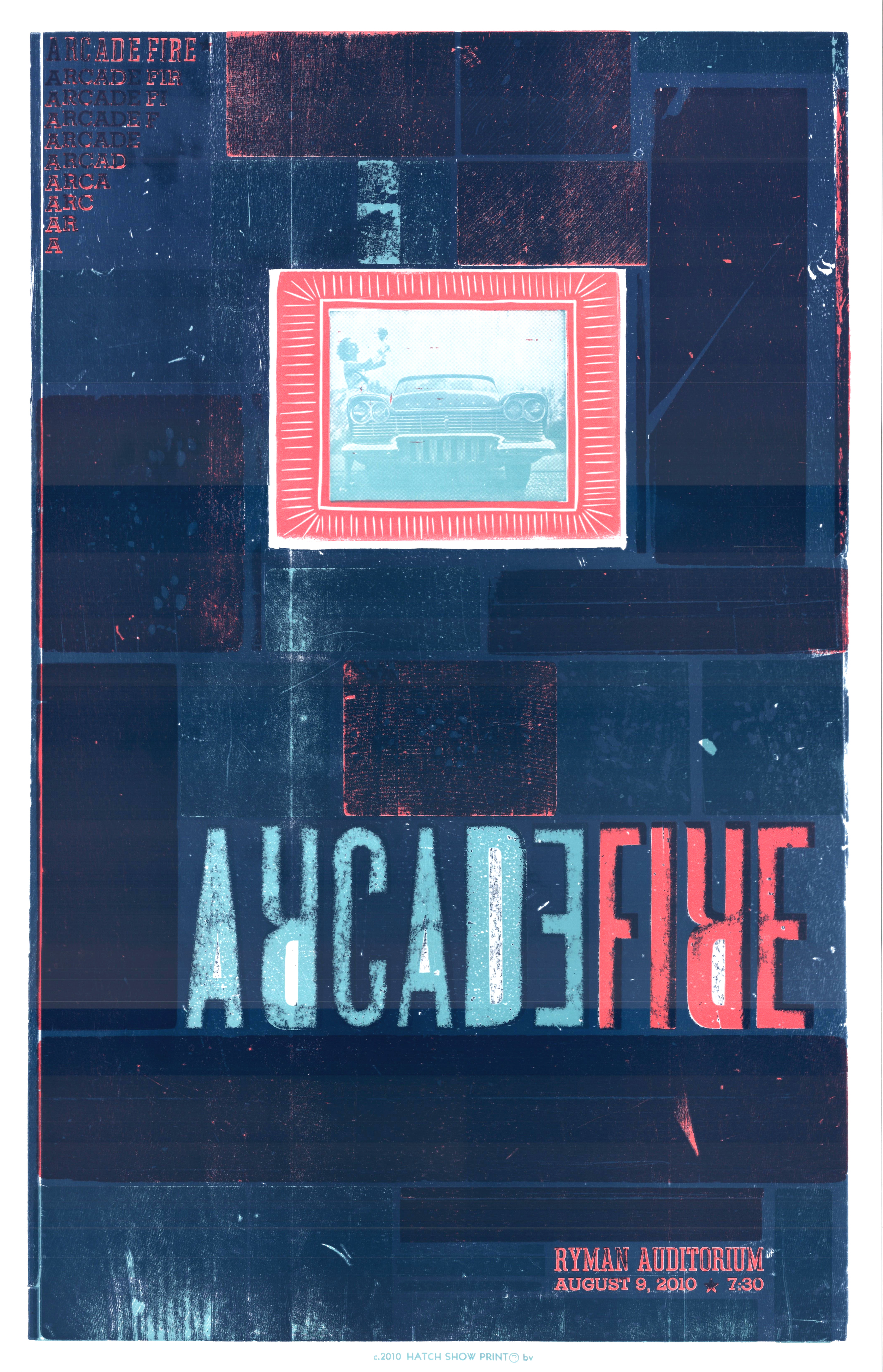Arcade Fire, 4-color letterpress show poster, 2010