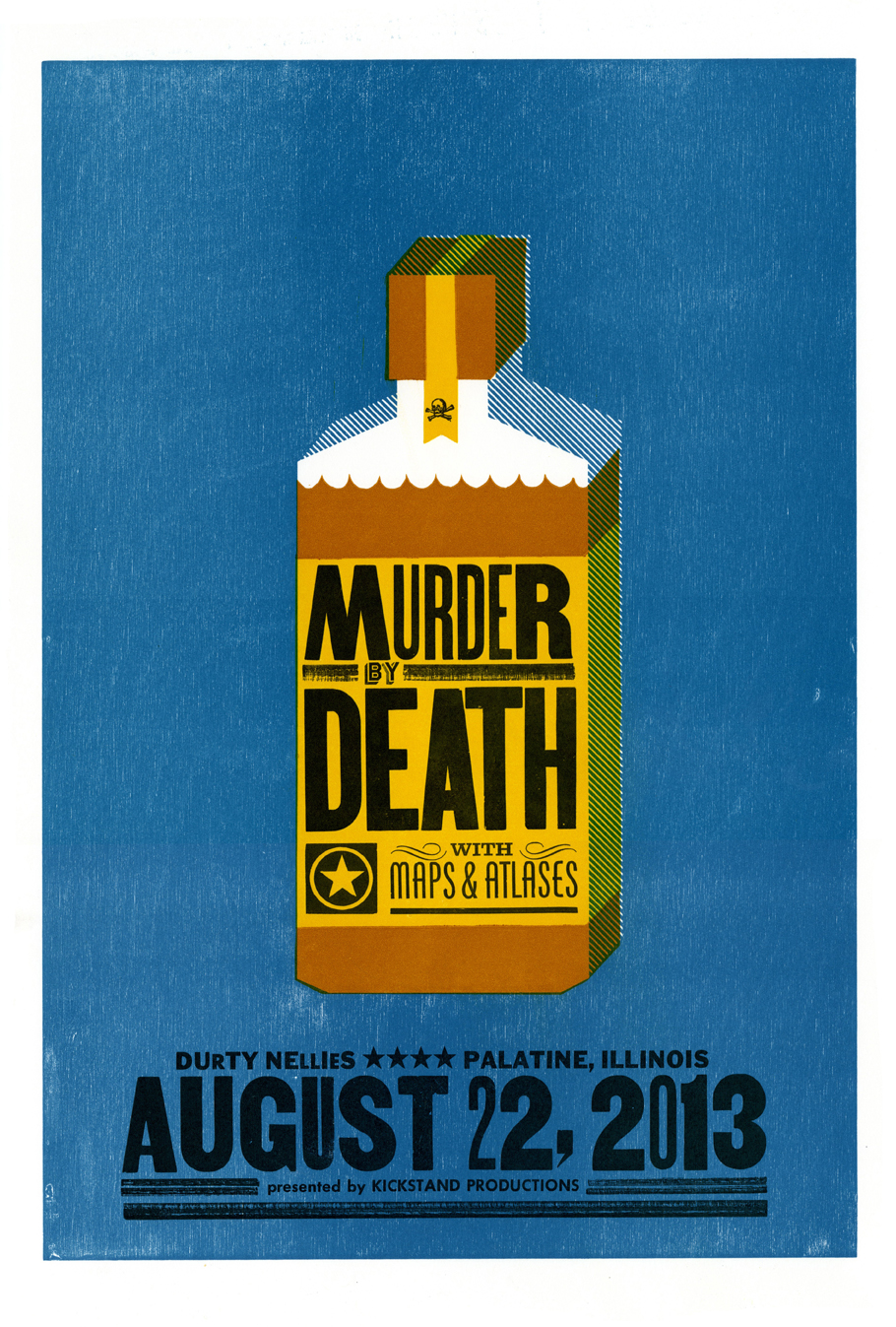 Murder By Death, 4-color letterpress show poster, 2013
