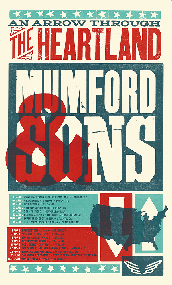 Mumford and Sons Tour Poster