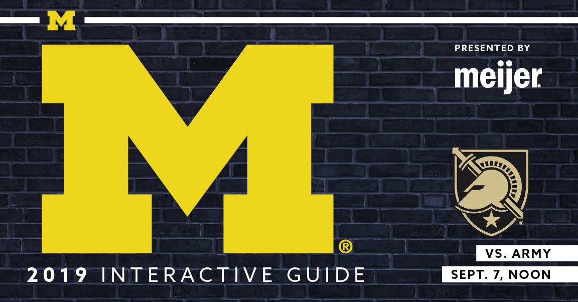 Designed entirely by me, from format through final digital upload and promotional image, for Learfield IMG College 2019. The official digital program of Michigan Wolverines Football vs. Army Black Knights on September 7, 2019.