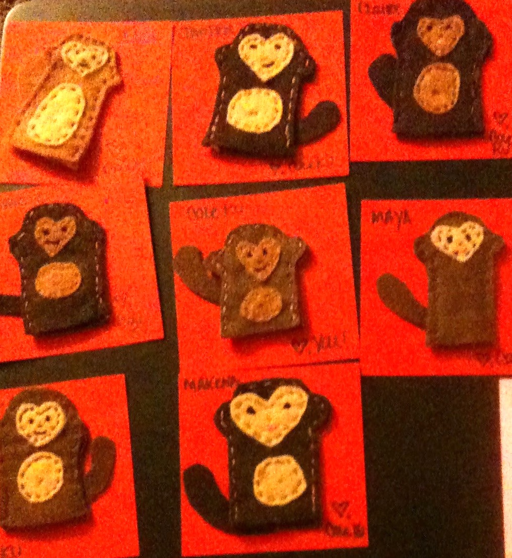 Monkey Finger Puppets