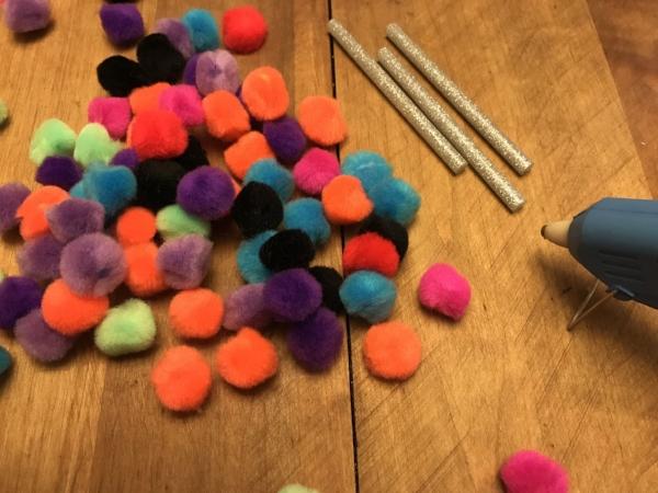 STEP 1: Pom Pom Supplies