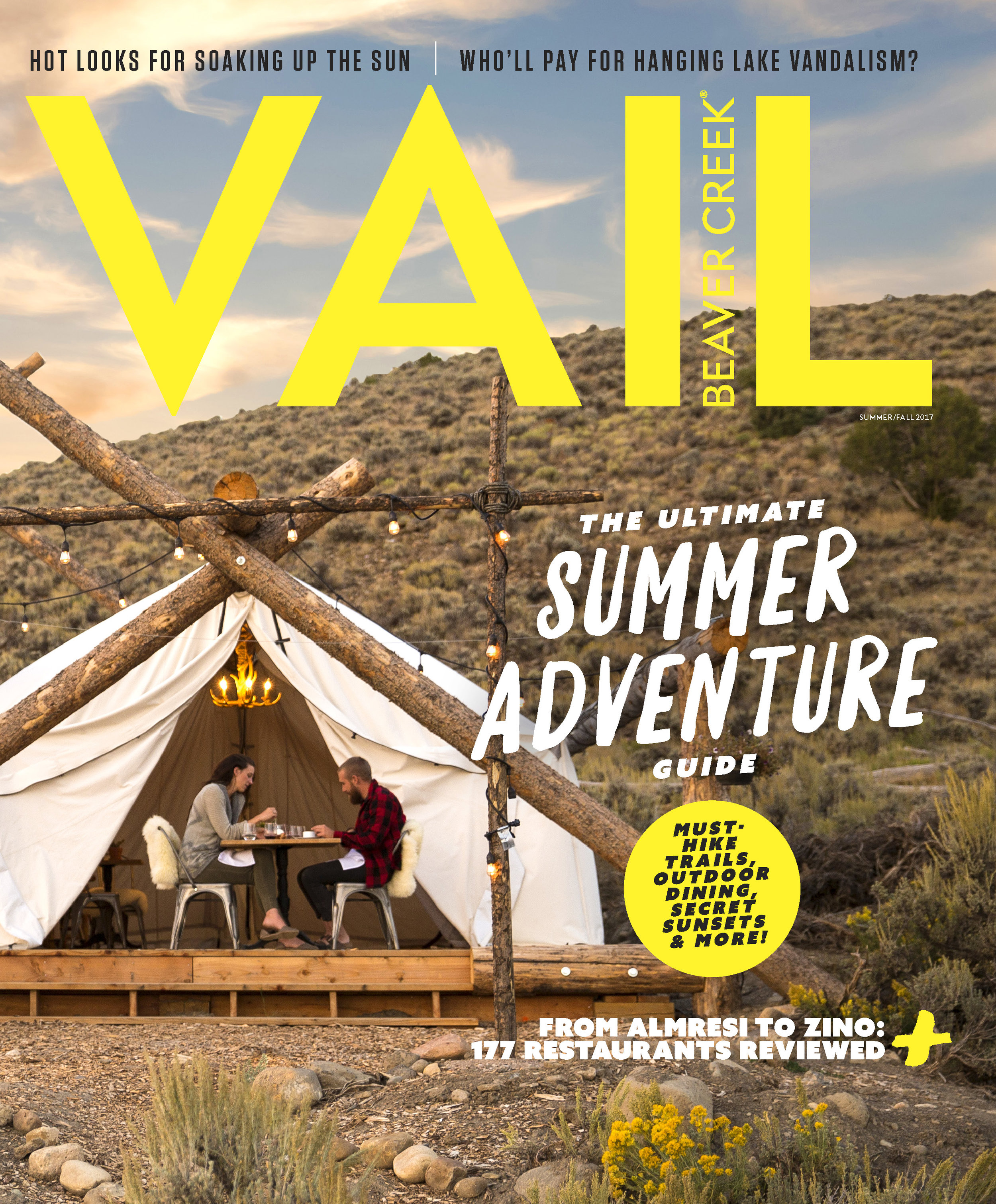 Glamping at Collective Retreat, Vail Beaver Creek Magazine, Summer 2017
