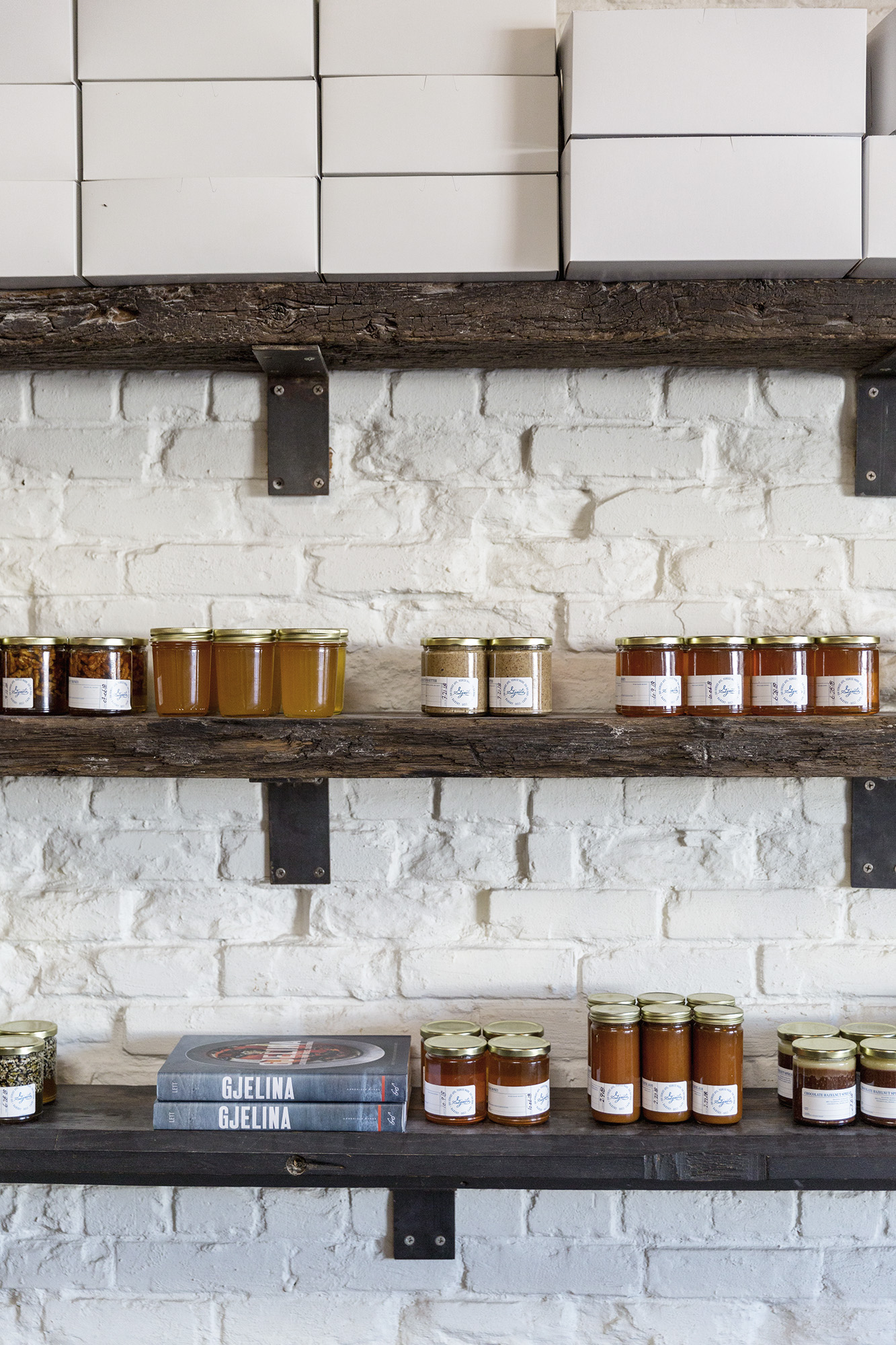 Jams and jars and sauces and things at Gjusta in Los Angeles by Rebecca Stumpf Colorado Denver Boulder Editorial and Commercial Travel Photographer