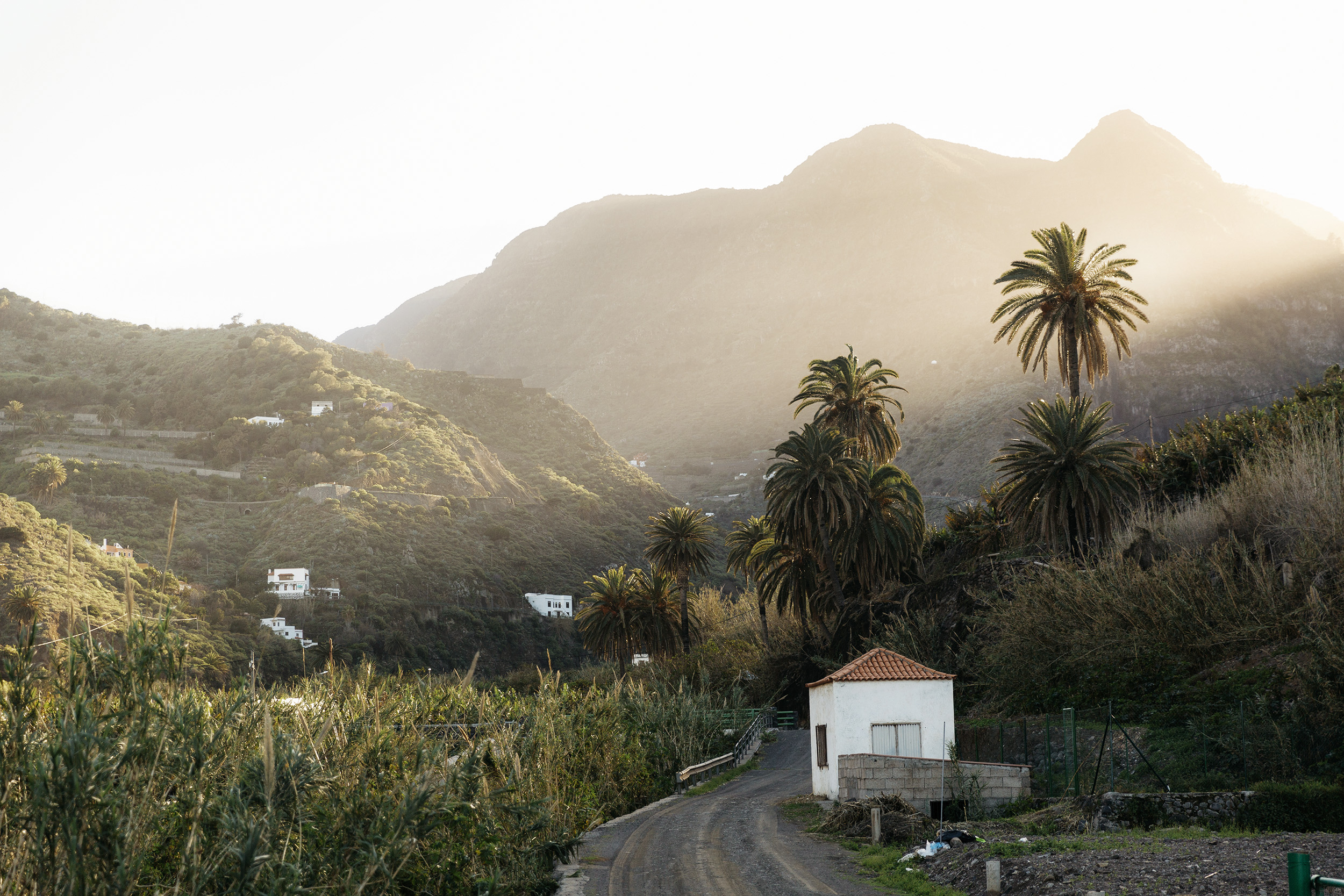 Sunset over La Hermigua in the Canary Islands by Rebecca Stumpf, Denver Boulder Colorado Editorial and Commercial Photographer.