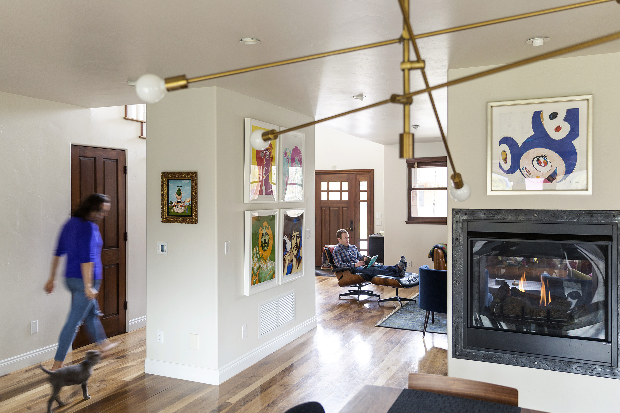 The Seymour Family enjoys their home in Basalt, Colo., in April 2018, just outside of Aspen. The Seymours moved to Basalt from Los Angeles in late 2016 for a change of pace, and because their careers allow them to work from anywhere. Joshua Seymour is a physician, and his wife, Marci is a CPA. They love to spend time in their backyard and at a nearby park with their two kids Stella, 4, Cassius, 2, and their new silver lab puppy, Ruby. CREDIT: Rebecca Stumpf for The Wall Street JournalVAYCAY-Seymour