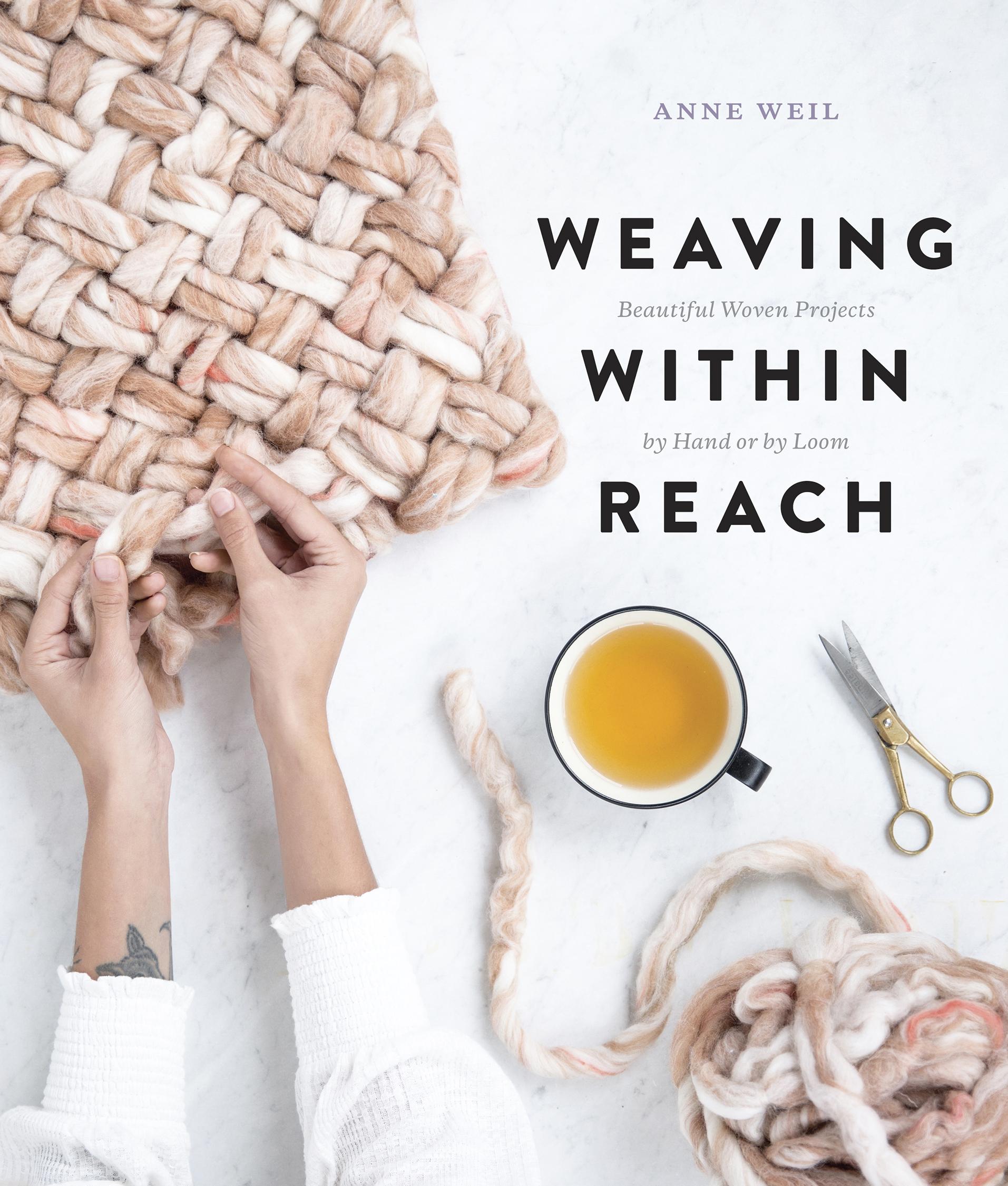 Cover image of Anne Weil's book Weaving Within Reach, photographed by Rebecca Stumpf Denver Lifestyle Photographer.