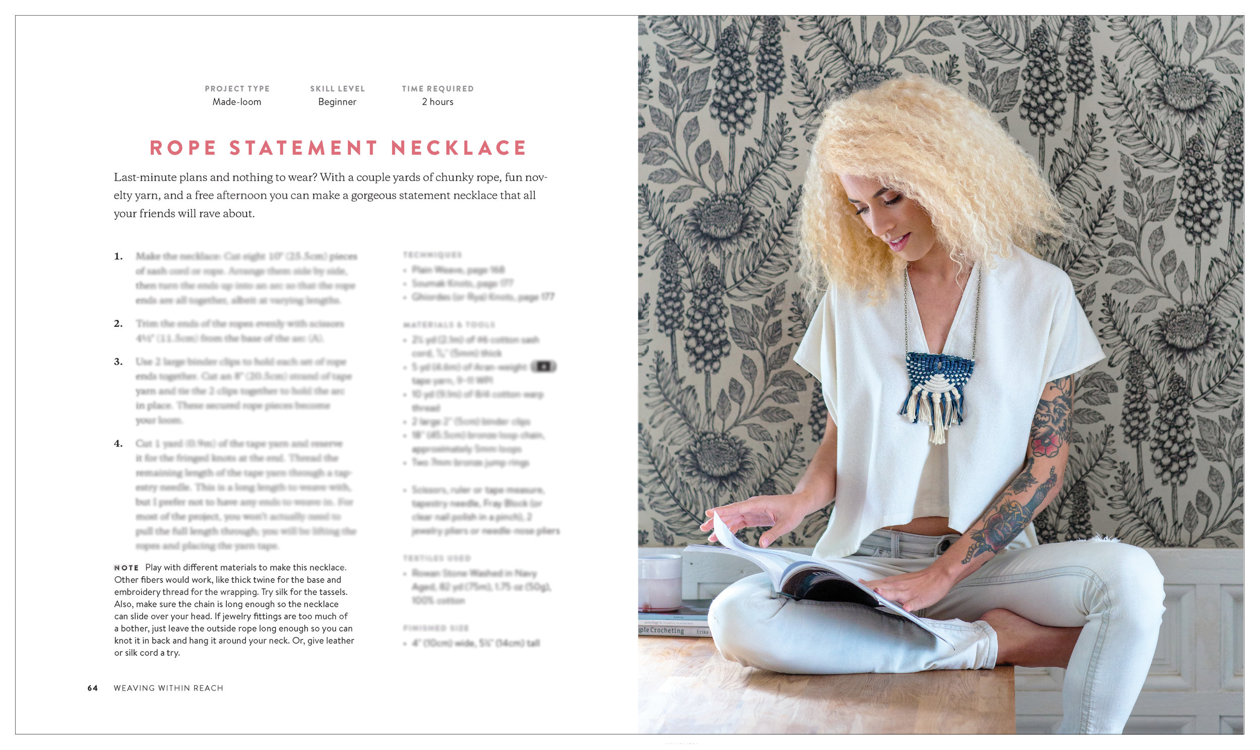 Sample spread of Anne Weil's book Weaving Within Reach with photography by Rebecca Stumpf Colorado Lifestyle Photographer Denver Boulder Editorial Commercial Photographer.