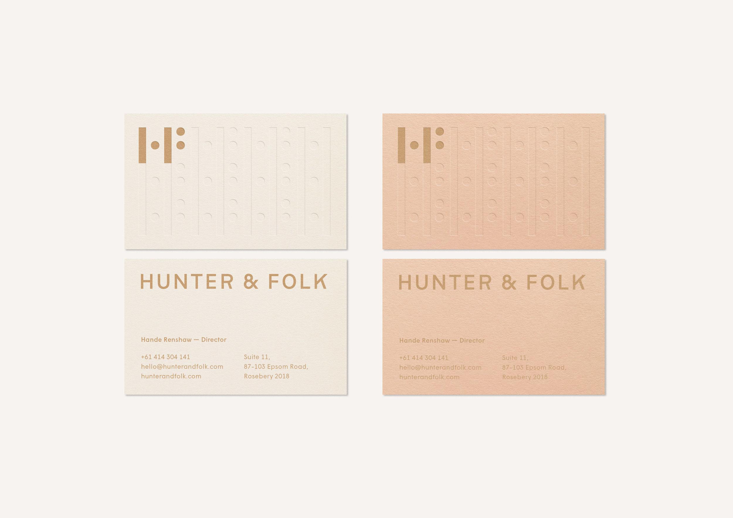Hunter & Folk: Branding, Editorial Design, Print Collateral + Web Design