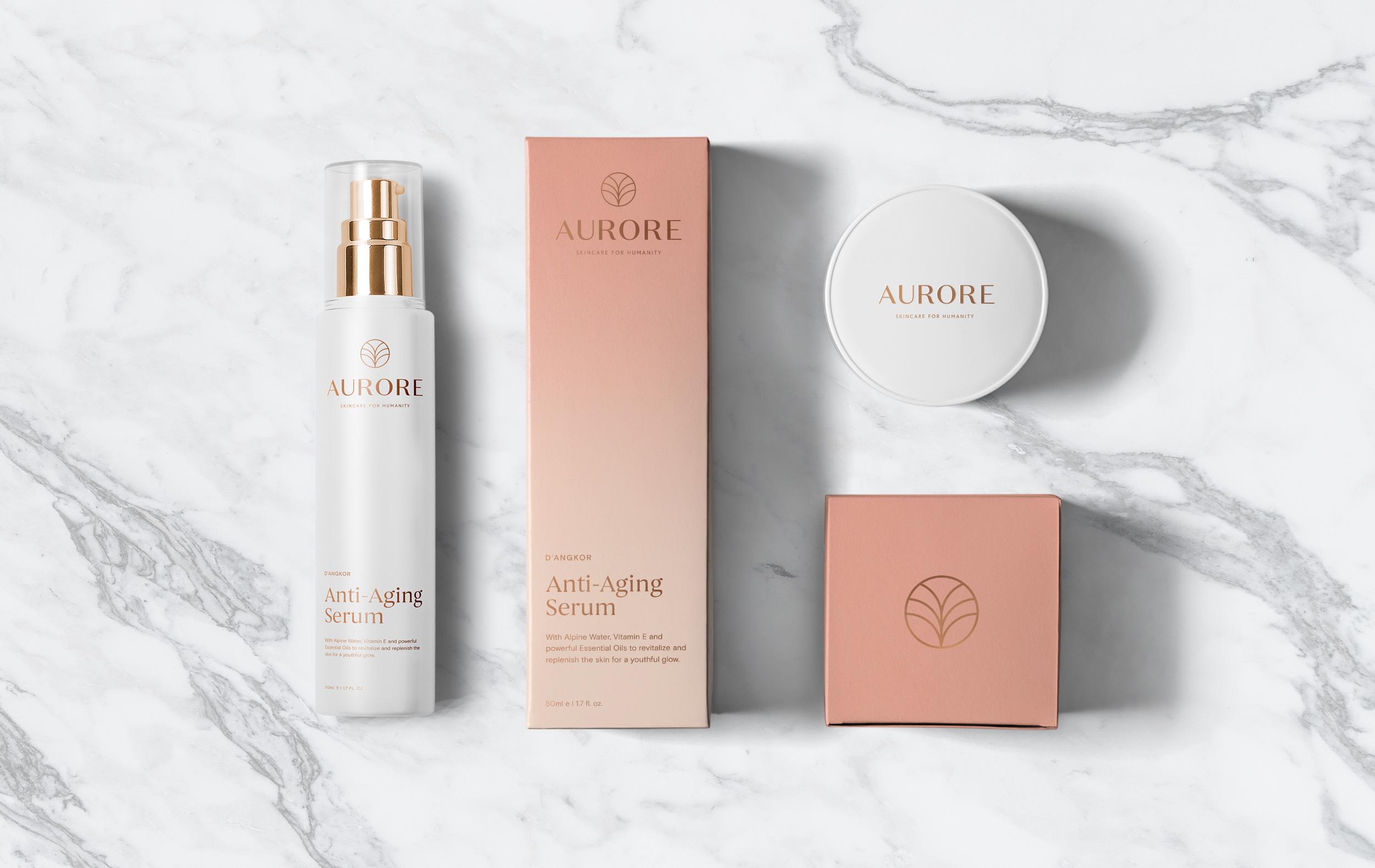 Aurore Skincare: Naming, Branding + Packaging