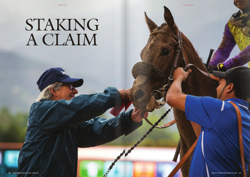 """Claimers have been the heart and soul of race meetings forever. The Daily Racing Form  recently documented claimers' significant niche in racing. As part of a comprehensive  analysis of 2015, the Form reported on March 6th that the 26,515 claiming races in North  America last year constituted 62.8% of all 42,220 races. The cumulative $393-plus million  in purses for those claiming races was 34.1% of the $1.1-plus billion in total purses.  THERE is no racing without  speculate on a yearling or a two-year-old.  If they go ahead and claim a horse, do they  know the business rules? Do they know there  may be multiple sales taxes to pay on the  claim? Are they informed of the restrictions  placed on the next start of a horse they claim?  Similar to medication rules, the business  rules of claiming Thoroughbreds are not  standard in the U.S. Would it be simpler to  have a single set of national rules? Of course  claimers. Frequently, a person  considering Thoroughbred  ownership is advised to start  with a claimer, a proven  commodity, rather than  WORDS: BILL HELLER PHOTOS: EcLIPSE SPORTSWIRE  it would. But that isn't going to happen  anytime soon.  """"It's confusing, because it varies from state  to state,"""" Del Mar director of racing Tom  Robbins said. But even within a single state,  including Robbins' California, sales tax rates  on claimed horses vary from track to track.  Rules also vary state to state and even track  to track regarding """"jail time,"""" the restrictions  on a claimed horse making his next start.  Most states, but not all, practice reciprocity  regarding jail time.  It's a bloody mess out there.  """"Almost every state is different,"""" New  York-based trainer Bruce Levine said. """"Every  state has different rules. You've just got to be  very careful when you ship in the Northeast  and mid-Atlantic.  """"I raced in Jersey for a long time,"""" Levine  said. """"Every year, it was changing. It was  crazy in Jersey. They had no jail time one  year. Guys were claiming horses f"""