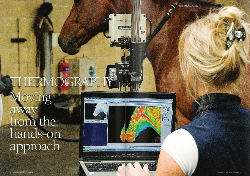 TODAY we have many sensitive and specific tools that are used by veterinary surgeons to diagnose the cause of lameness. These include radiography, scintigraphy, ultrasound and MRI. These however not all suitable for regular routine monitoring.  Ultrasound, due to its nature, can be used more frequently than the other techniques but its use is focused to soft tissue and in a limited area, e.g. tendons. These are diagnostic modalities rather than techniques for monitoring.  The most common tools the trainer uses to monitor horses with respect to lameness are eyes and hands. Visual observation of a horse's gait is used universally. However, several studies have shown that even trained and experienced veterinary surgeons differ in subjective visual lameness assessment. That is, even wh en examining the same horse they may assign different grades of lameness, disagree on the site of the lameness, and sometimes even disagree on which leg the horse is lame; this is especially true when the lameness is mild! (see Keegan et al.  American Journal of Veterinary Research , 1998) The problem with visual observation is that it is subjective. It may be hard, if not impossible, to see very slow deterioration in a horse over several weeks.  There has been a move towards developing objective lameness assessment devices, such as the Lameness Locator. These have the potential to be used routinely for monitoring a horse's gait over time. However, the cost and technical aspects mean they will likely be used by clinicians rather than trainers. And whilst they may identify a horse as lame, they may not give any clues as to the location of the problem and will not identify a problem in the early stages i.e. when there is inflammation but no effect on gait.  Running hands down a horse's legs is the second technique used widely. The limitation here is that our hands are relatively insensitive. We may be able to detect a difference of around 1°C between legs. Some people may only appreciate a 
