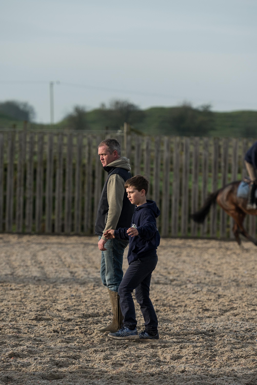 Joe Tizzard with his nephew, Freddie Gingell