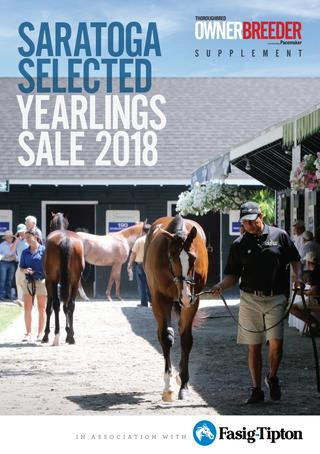 SARATOGA SELECTED YEARLINGS SALES SUPPLEMENT 2018 -