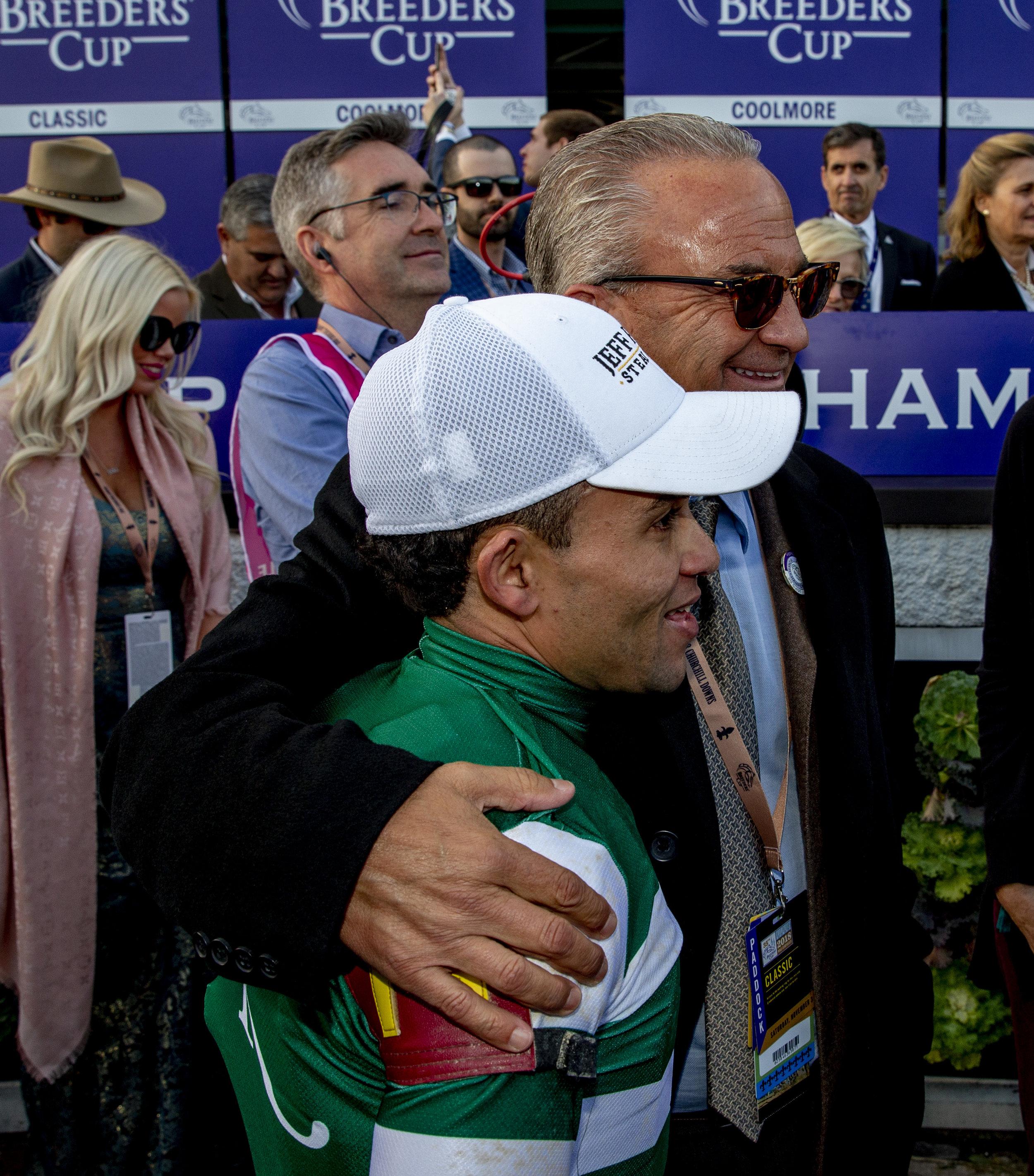 Kosta Hronis with jockey Joel Rosario