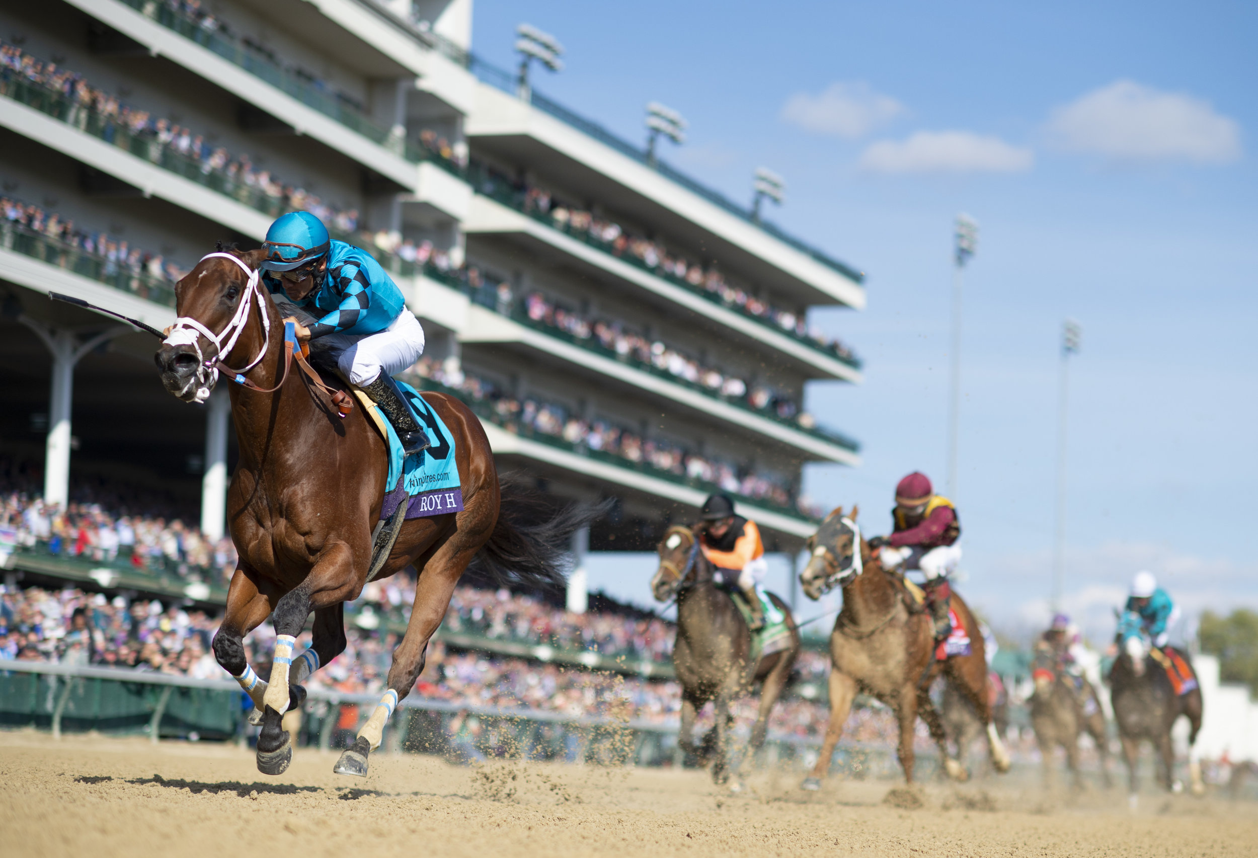 Roy H, ridden by Paco Lopez, wins Twinspires Breeders' Cup Sprint for owner Gary Hartunian
