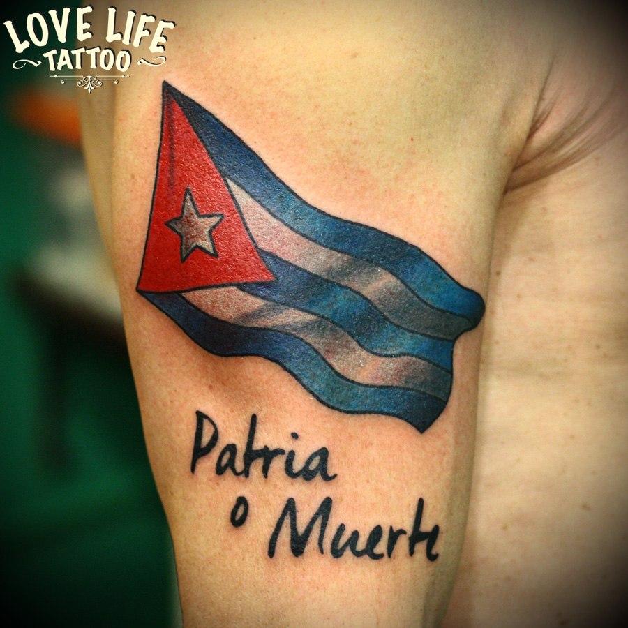 татуировка флага кубы