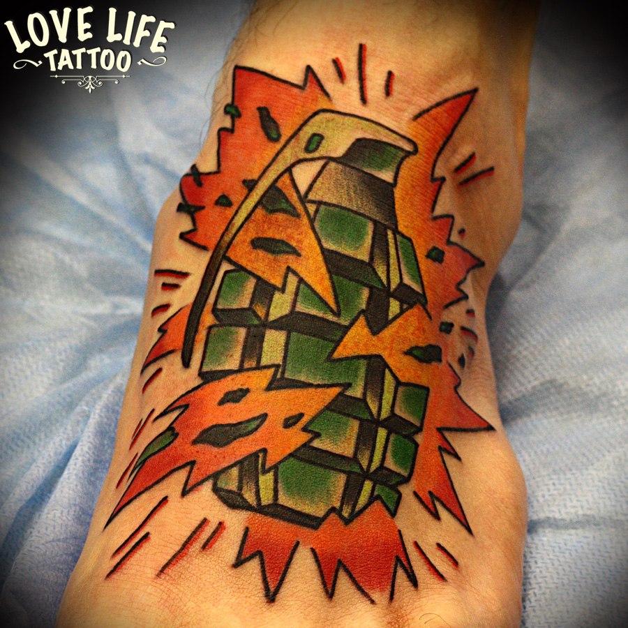 татуировка гранаты