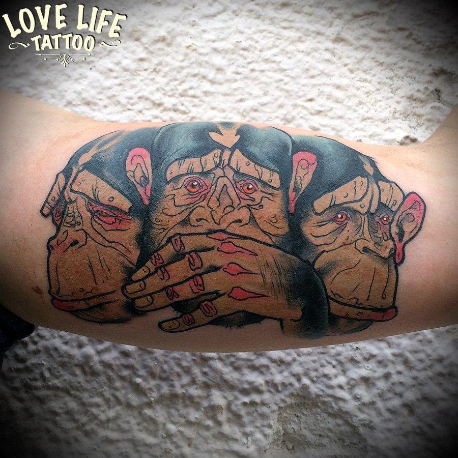 татуировка обезьян