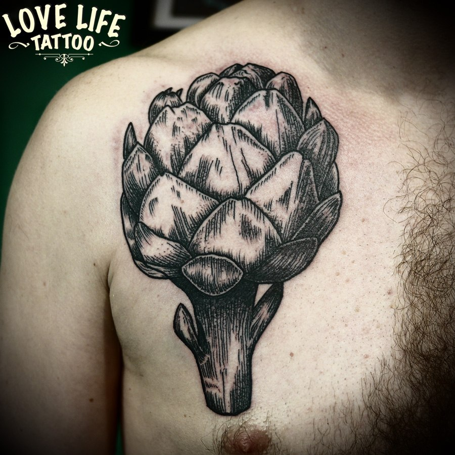 татуировка брокколи