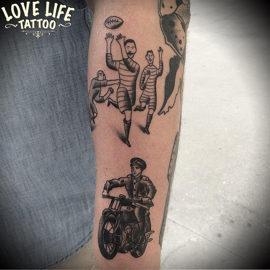 татуировка рэкбисты мотоциклист