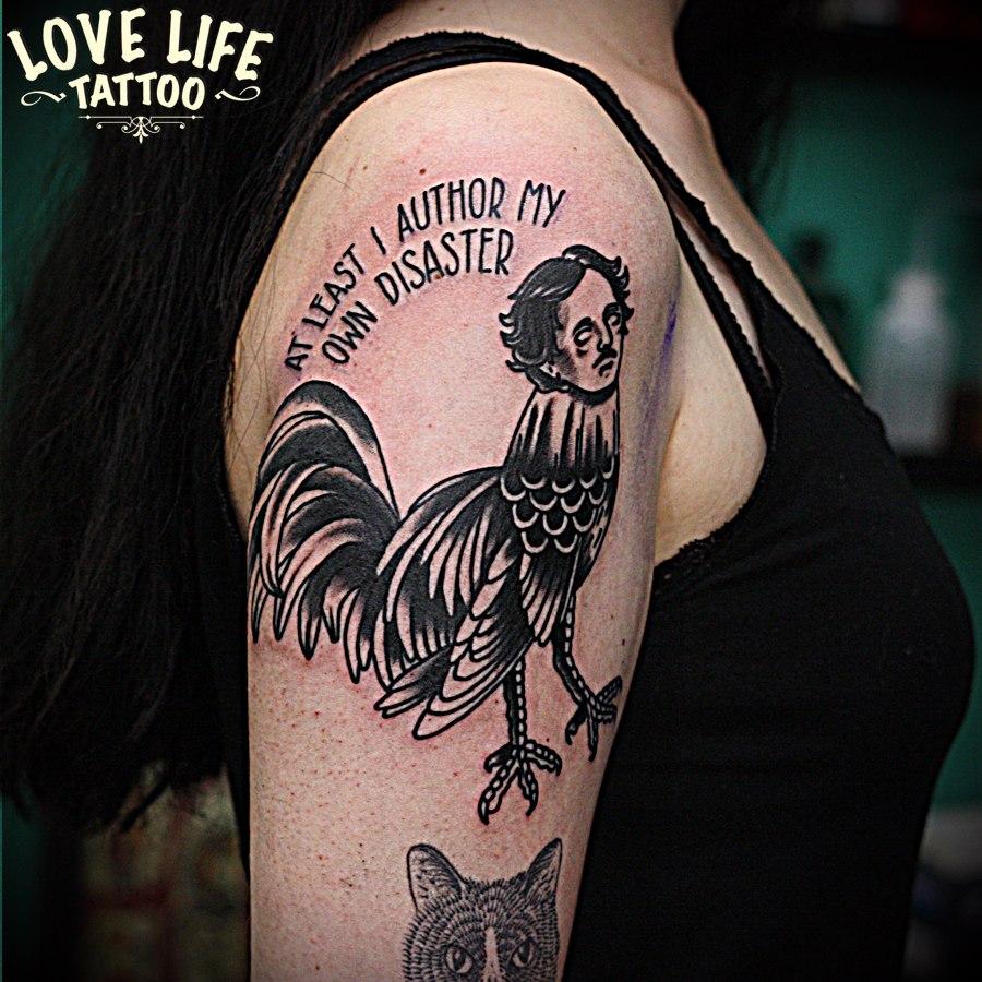татуировка петух Эдгар по