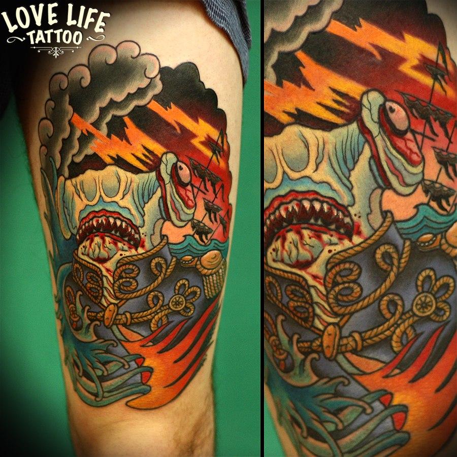 татуировка акулы