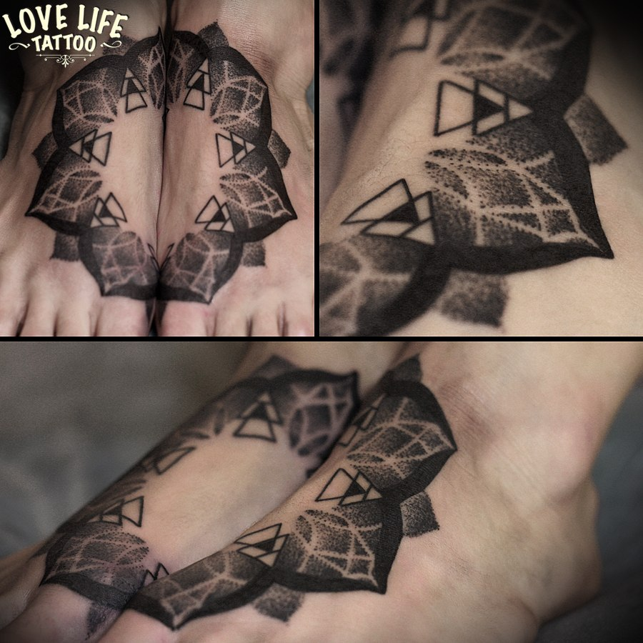 татуировка мандалы