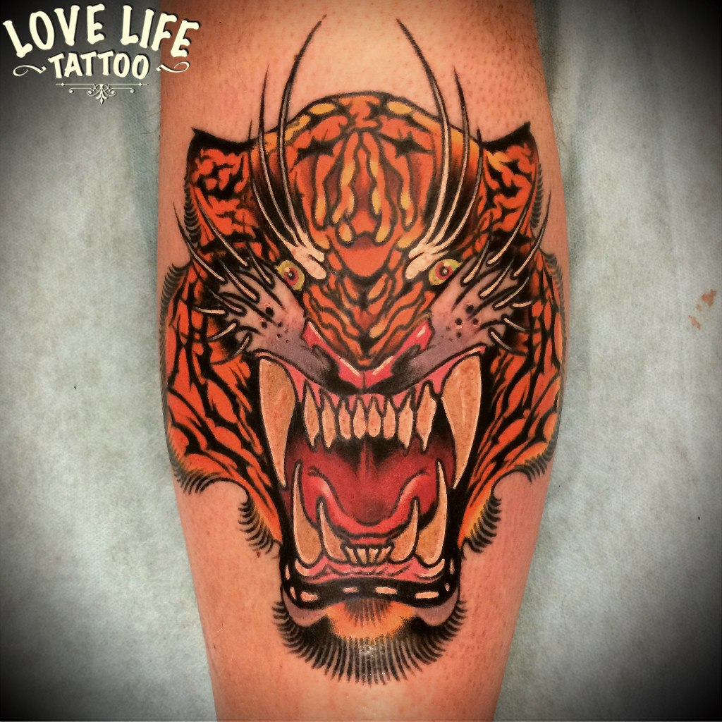 татуировка тигра