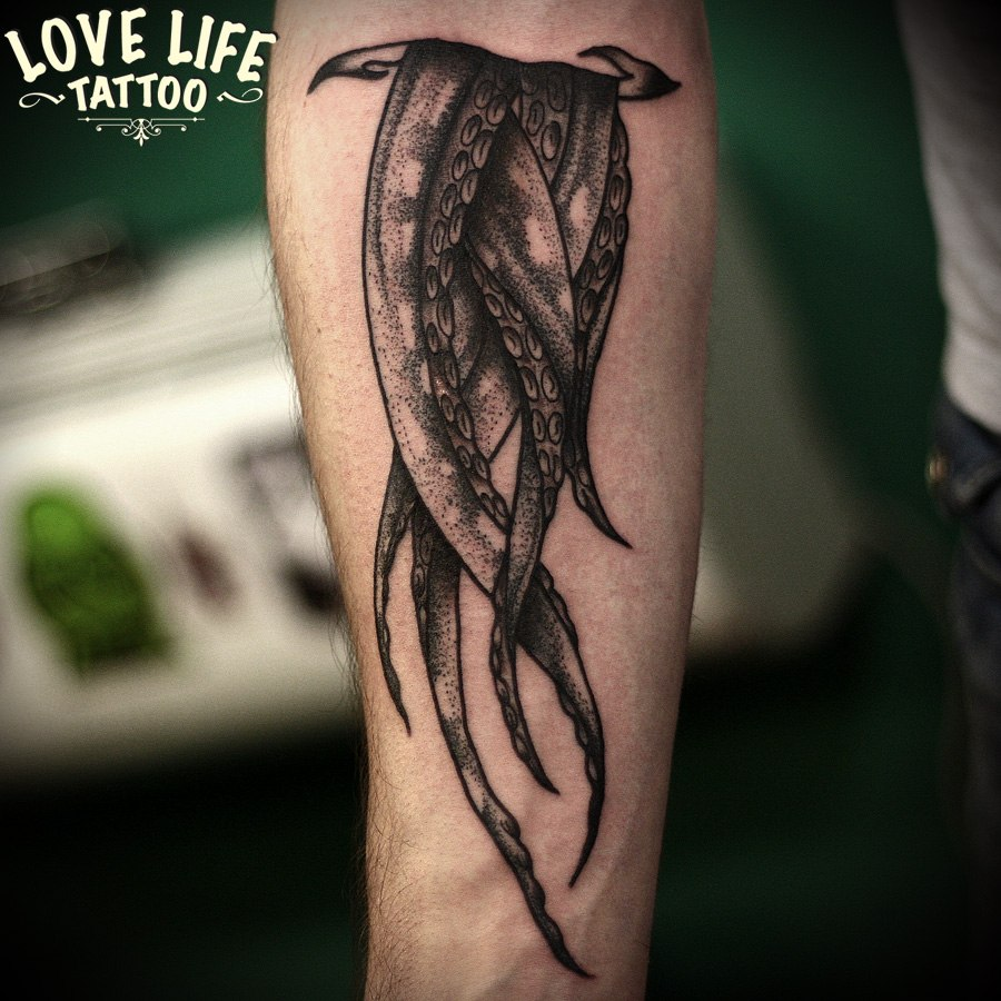 татуировка щупальцев