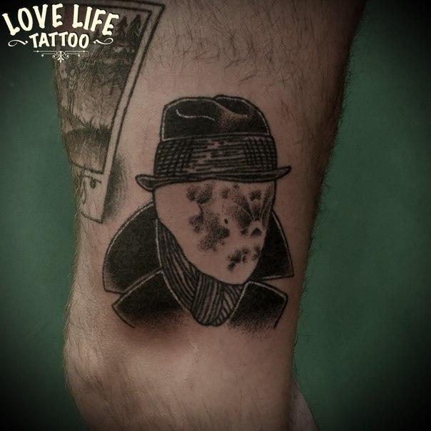 татуировка (hand poking) Роршаха