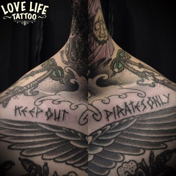 татуировка (hand poking) надписи