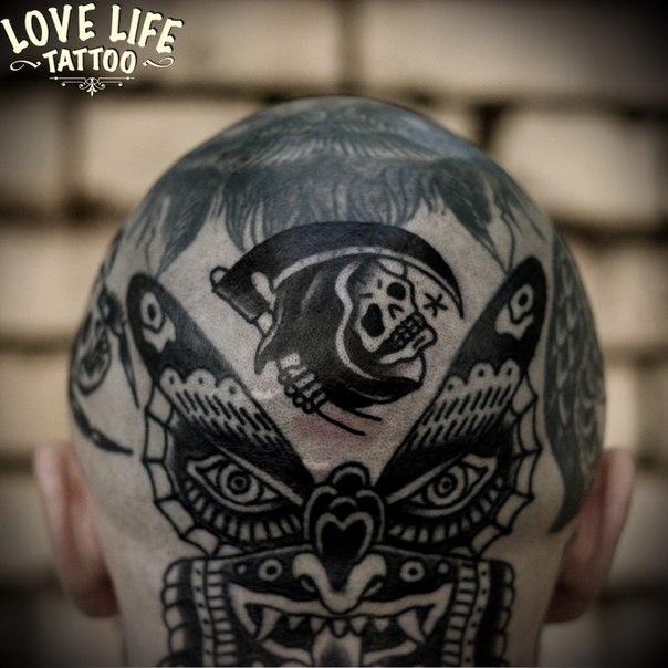 татуировка смерти с косой