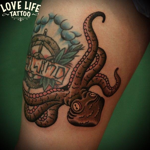 татуировка осьминога