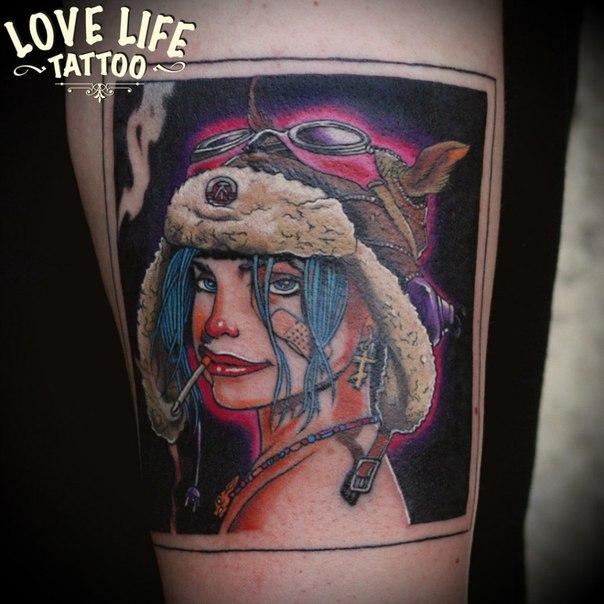 татуировка девушки