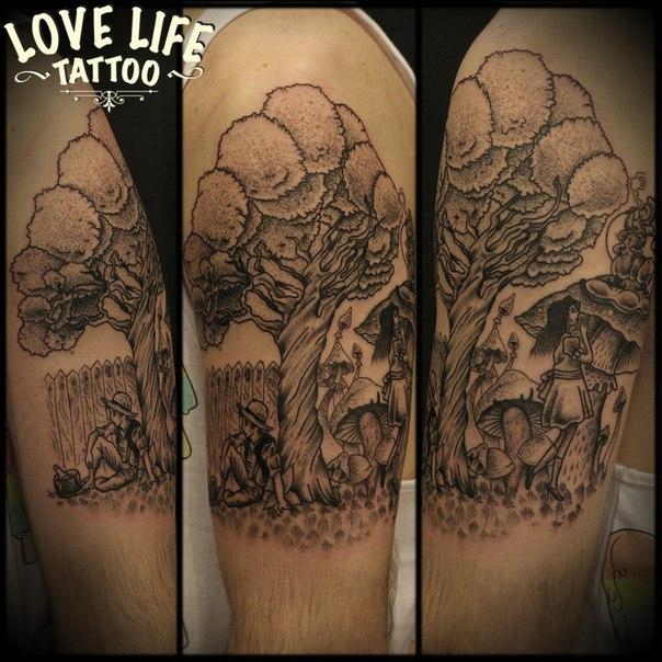 татуировка дерева