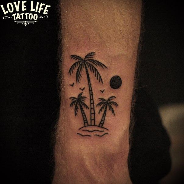 татуировка пальм