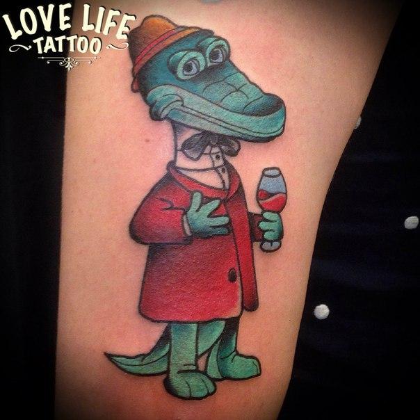 татуировка крокодила