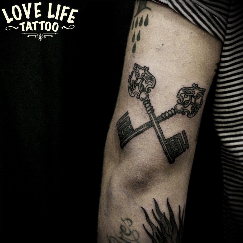 татуировка ключей